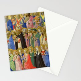 """Fra Angelico """"Fiesole Altarpiece - The Forerunners of Christ with Saints and Martyrs"""" Stationery Cards"""
