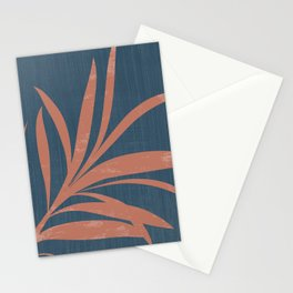 Blue Abstract Leaf Stationery Cards