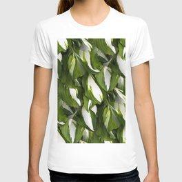 Beautiful Variagated Green Leaves Nature #decor #society6 #buyart T-shirt
