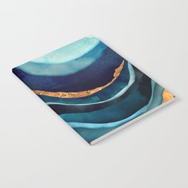 Abstract Blue with Gold Notebook