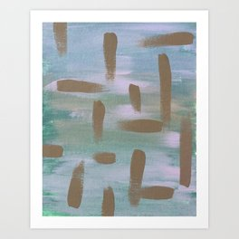 Brush Strokes in The Sky Art Print