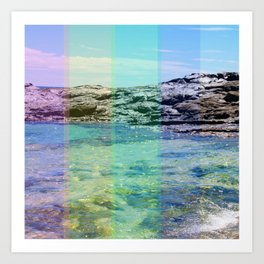 Rock pool Art Print