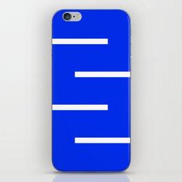 Abstract Minimal Retro Stripes Blue iPhone Skin