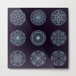 Mandala seamless pattern Metal Print