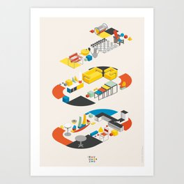 Bauhaus 100 Art Print