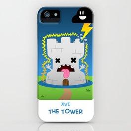 The Chibi Tarot - XVI The Tower iPhone Case