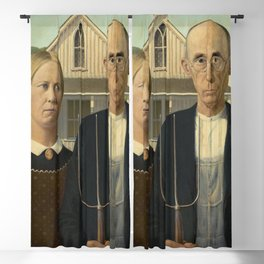 American Gothic by Grant Wood Blackout Curtain