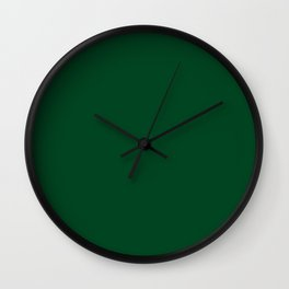Forest Green (Traditional) - solid color Wall Clock