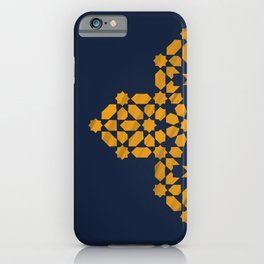 Zellige - blue and yellow iPhone Case