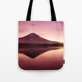 Marvellous Hill Near Waterfront At Lovely Evening Red Violet Tint High Resolutions Tote Bag