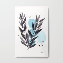 Blue Adelle Metal Print