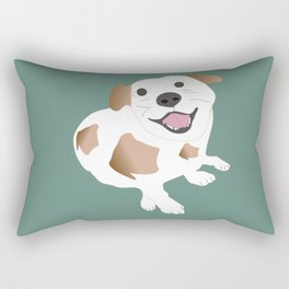 Happy Dog  Rectangular Pillow