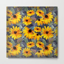 Black-eyed Susan Pattern Metal Print