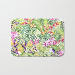 Tropical Garden 1A #society6 Bath Mat