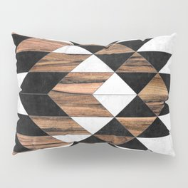Urban Tribal Pattern No.9 - Aztec - Concrete and Wood Pillow Sham