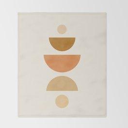 Abstraction_Geometric_Shape_Moon_Sun_Minimalism_001D Throw Blanket