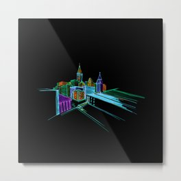 Vibrant city 2 Metal Print