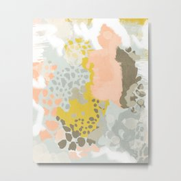 Upton - Abstract painting perfect for dorm room phone case abstract art and feminine abstract art Metal Print