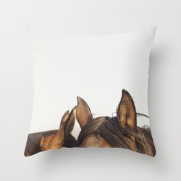 Horse Ears Modern Print Throw Pillow