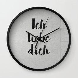 Ich Liebe Dich - German love Wall Clock