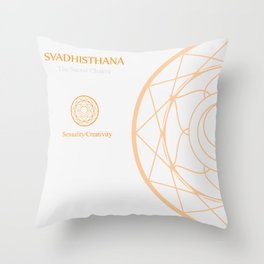 Svadhisthana- The sacral chakra which stands for sexuality and creativity Throw Pillow