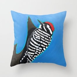 Ladder-Backed Woodpecker Throw Pillow