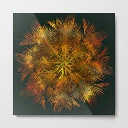 The Majesty Palm Swirl Metal Print