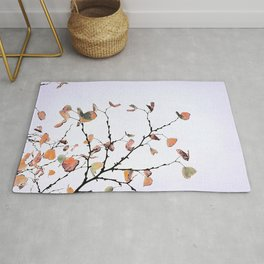 abstract warm leaves Rug