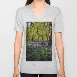 Bluebell Forest Springtime Landscape by Jeanpaul Ferro Unisex V-Neck