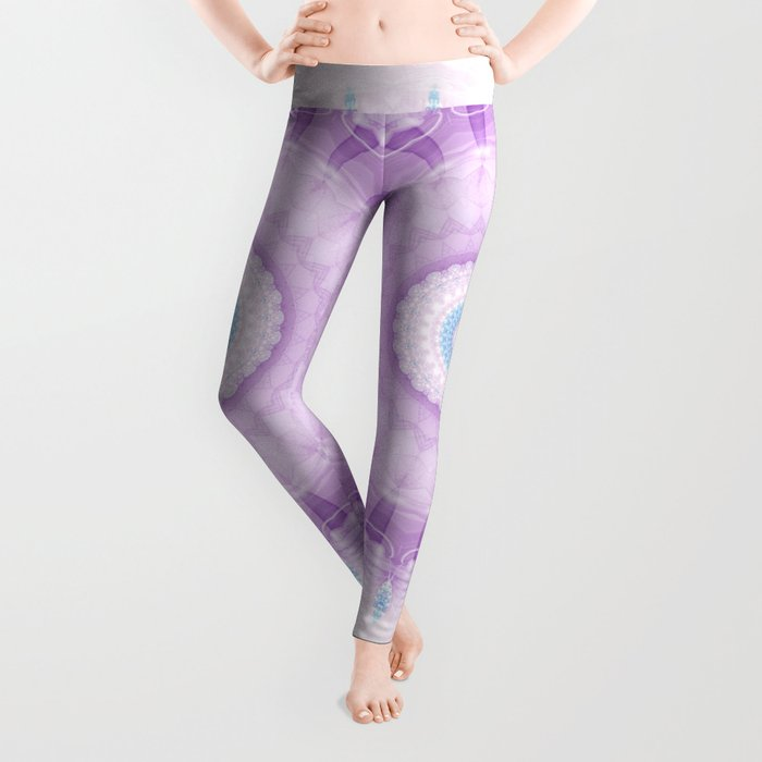Pastel Purple and Blue Mandala Leggings