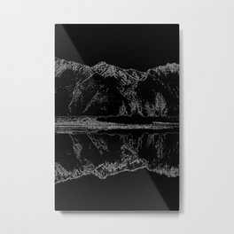 Knik River Mts. Pop Art - 4 Metal Print