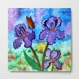 Iris at Sunrise Metal Print