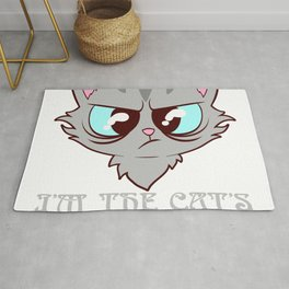 I'm The Cat's Favorite Pet Animals Kitten Fountain Kittie Feline Claw Claws T-shirt Design Rug