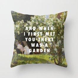 Peder Severin Krøyer, Roses (1893) / Halsey, Garden (2014) Throw Pillow
