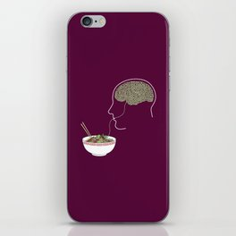 Noodle Brain iPhone Skin