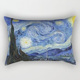 Starry Night by Vincent Van Gogh Rectangular Pillow