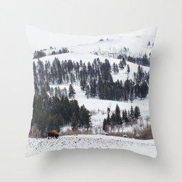 Specimen Ridge - Yellowstone National Park Throw Pillow