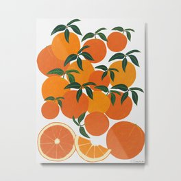 Orange Harvest - White Metal Print