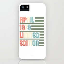April Cool Vintage Retro Birthday Gift For Your Wife And Husband For Their 40th Birthday Natal Day iPhone Case