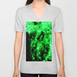 Green Galaxy Unisex V-Neck