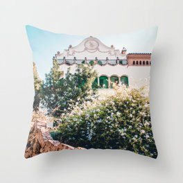 Larrard House | Park Guell Barcelona Spain Travel Architecture Photography Throw Pillow