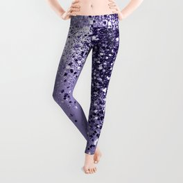 ULTRA VIOLET Glitter Dream #1 #shiny #decor #art #society6 Leggings