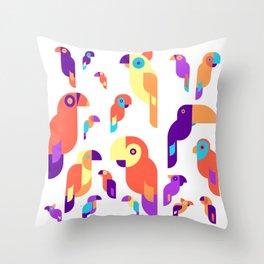 Cool Parrot Design Throw Pillow