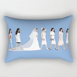 Marriage Milestone Figures Rectangular Pillow