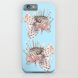 Watercolor Lionfish Tropical Fish Marine Life Painting iPhone Case