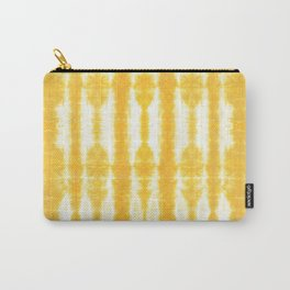 Yellow Tiki Shibori Carry-All Pouch