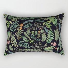 circular garden at nigth Rectangular Pillow