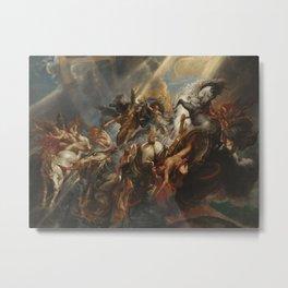 The Fall of Phaeton Oil Painting by Sir Peter Paul Rubens Metal Print