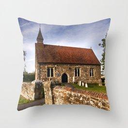 St Mary The Virgin Ebony Throw Pillow