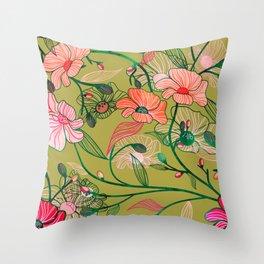 Twinning #illustration #pattern Throw Pillow
